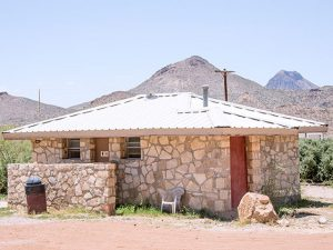 Texas Terlingua Bathhouse Showers