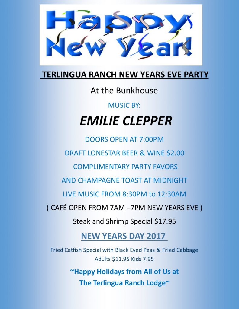 New Years Eve 2017 Party at Terlingua Ranch Lodge
