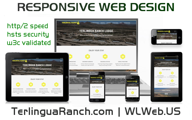 TerlinguaRanch.com: A Responsive Web Design by Big Bend Web Developer WLWeb.US