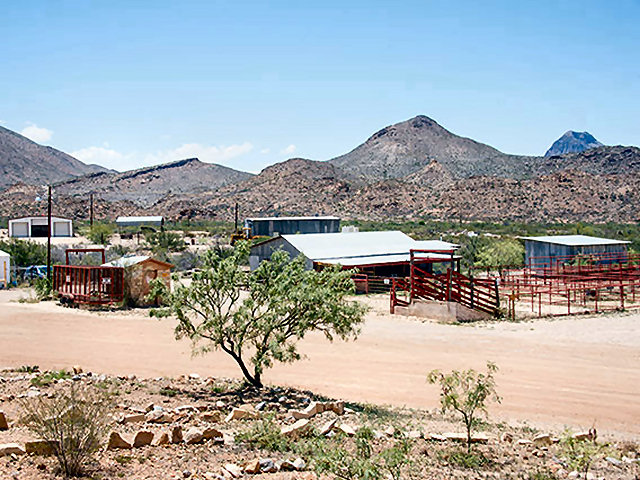 Terlingua horse corral with pens turnout paddocks and a for Big bend motor lodge study butte tx